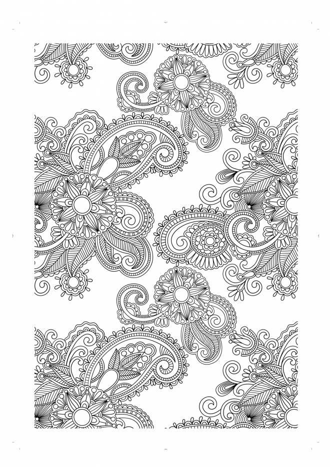 Coloriage et dessins gratuits fleurs adulte anti-stress à imprimer