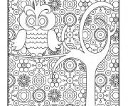 Coloriage et dessins gratuit Hibou artistique à imprimer