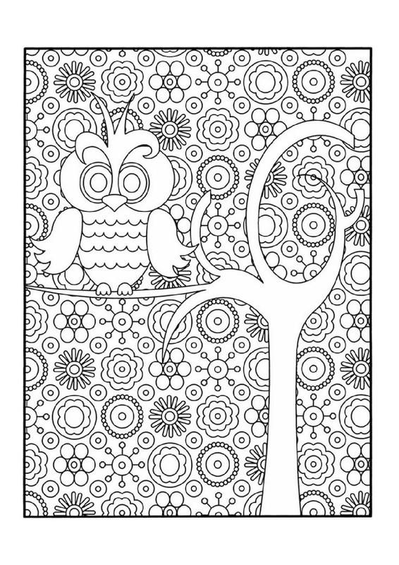 Coloriage et dessins gratuits Hibou artistique à imprimer