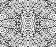 Coloriage et dessins gratuit Inspiration Zen artistique à imprimer