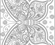 Coloriage et dessins gratuit Mandala à colorier destressant à imprimer