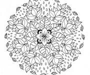 Coloriage Mandala Fleur Anti-Stress
