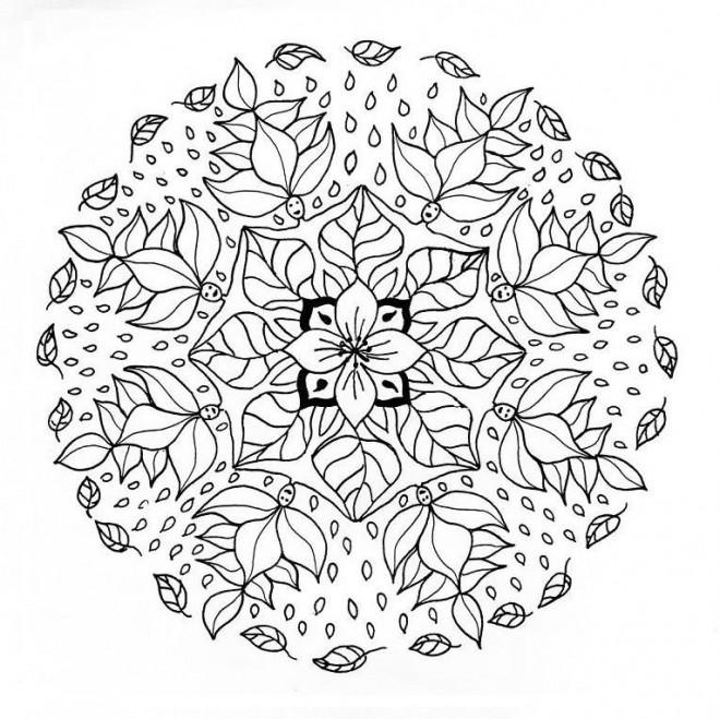 Coloriage Mandala Fleur Anti Stress Dessin Gratuit à Imprimer