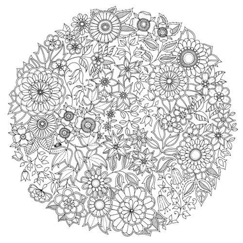 Coloriage et dessins gratuits Mandala Zen fleuri à imprimer