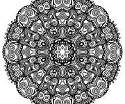 Coloriage Mandala Zen sur ordinateur