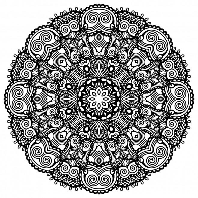 Coloriage et dessins gratuits Mandala Zen sur ordinateur à imprimer
