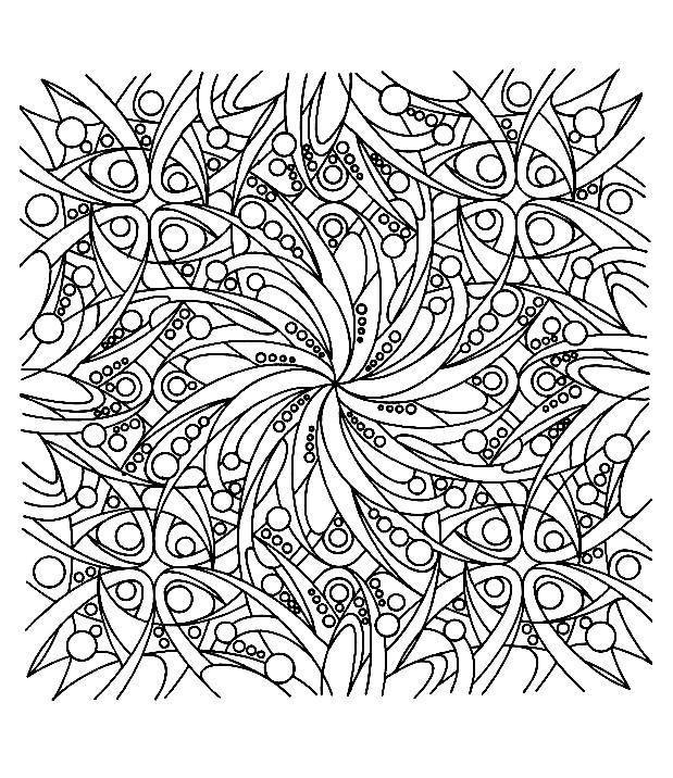 Coloriage et dessins gratuits Zen Anti-Stress à imprimer