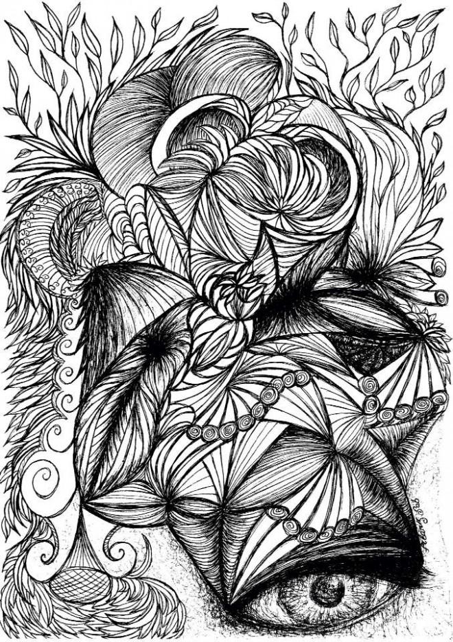 Coloriage et dessins gratuits Zen Art Thérapeutique à imprimer