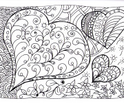 Coloriage Zen Coeurs magique