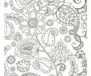 Coloriage Zen Fleur maternelle