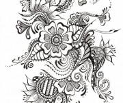 Coloriage Zen Fleur splendide