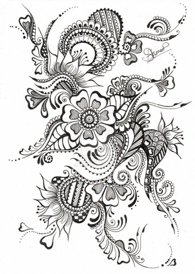 Coloriage et dessins gratuits Zen Fleur splendide à imprimer
