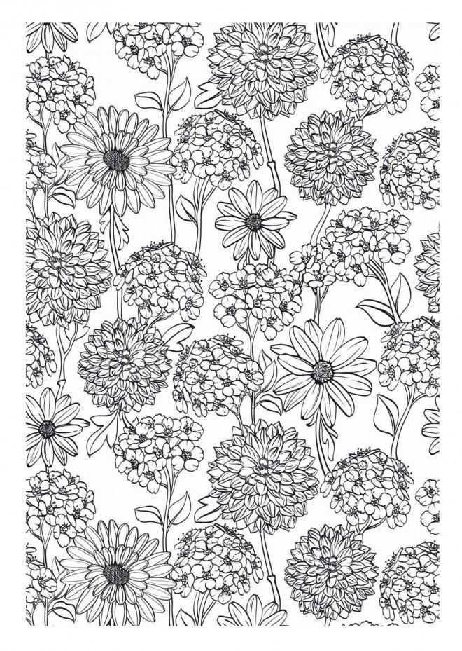 Coloriage et dessins gratuits Zen Fleurs à imprimer