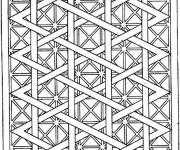 Coloriage Zen Géométrique