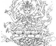 Coloriage Zen orientale merveilleux