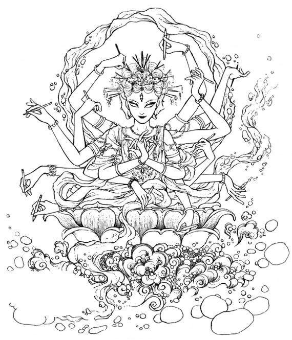Coloriage et dessins gratuits Zen orientale merveilleux à imprimer