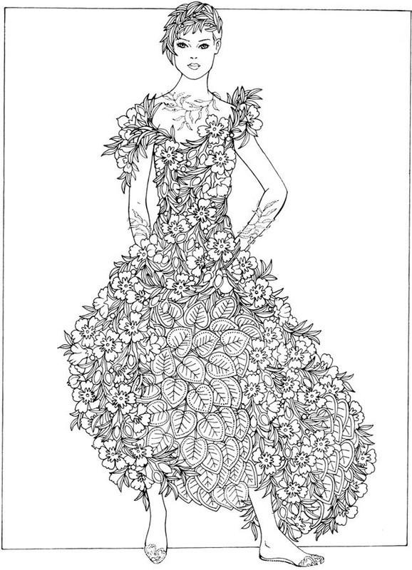 Coloriage et dessins gratuits Zen Stylisme pour Femme à imprimer