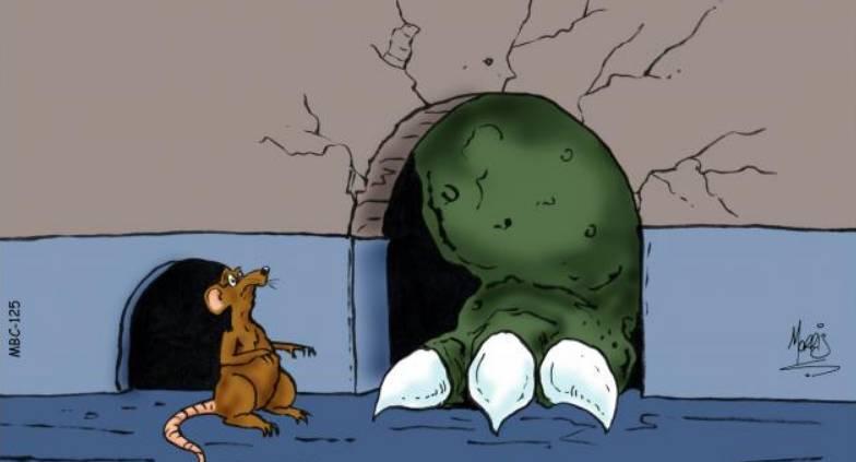 Comptine Le monstre gentil qui a peur des souris