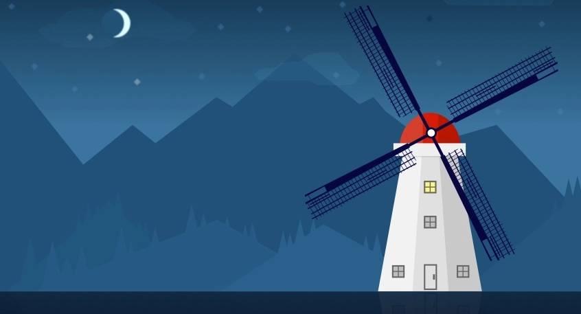 Poème Les ailes du moulin