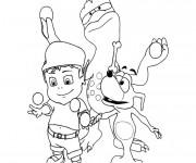 Coloriage et dessins gratuit Adibou à imprimer