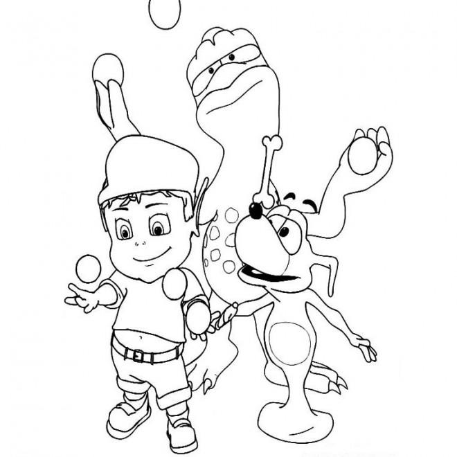 Coloriage et dessins gratuits Adibou à imprimer
