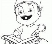 Coloriage et dessins gratuit Adibou aime son livre à imprimer
