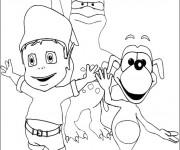 Coloriage et dessins gratuit Adibou entrain de s'amuser à imprimer