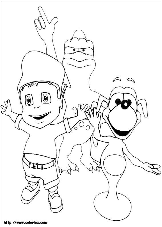 Coloriage et dessins gratuits Adibou entrain de s'amuser à imprimer