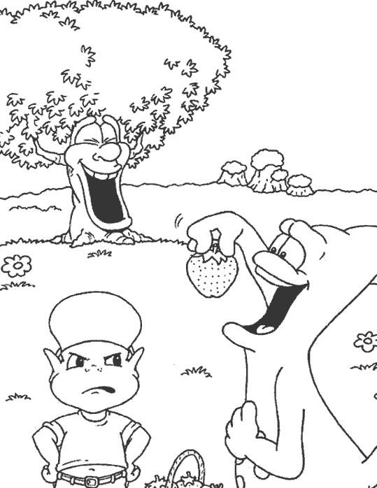 Coloriage et dessins gratuits Adibou est faché de Bouzzi à imprimer