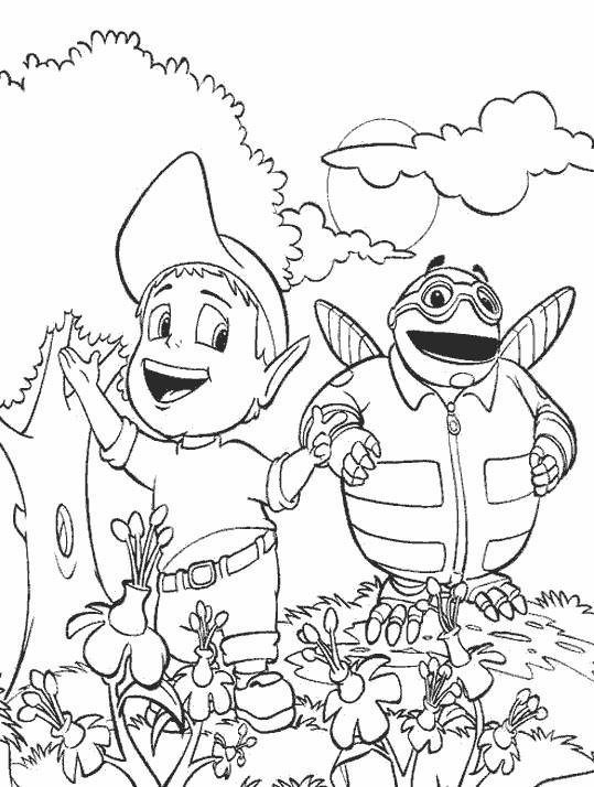 Coloriage et dessins gratuits Adibou et Bizbi à imprimer