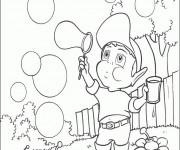 Coloriage et dessins gratuit Adibou fait des bulles à imprimer