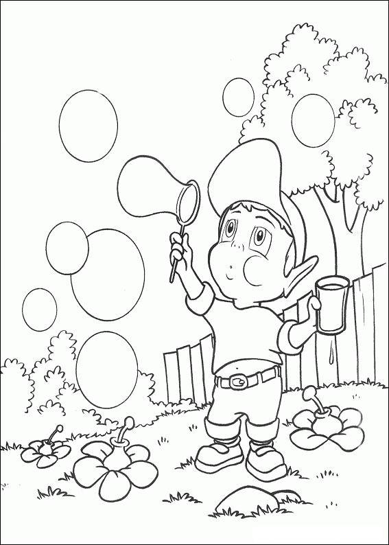 Coloriage et dessins gratuits Adibou fait des bulles à imprimer