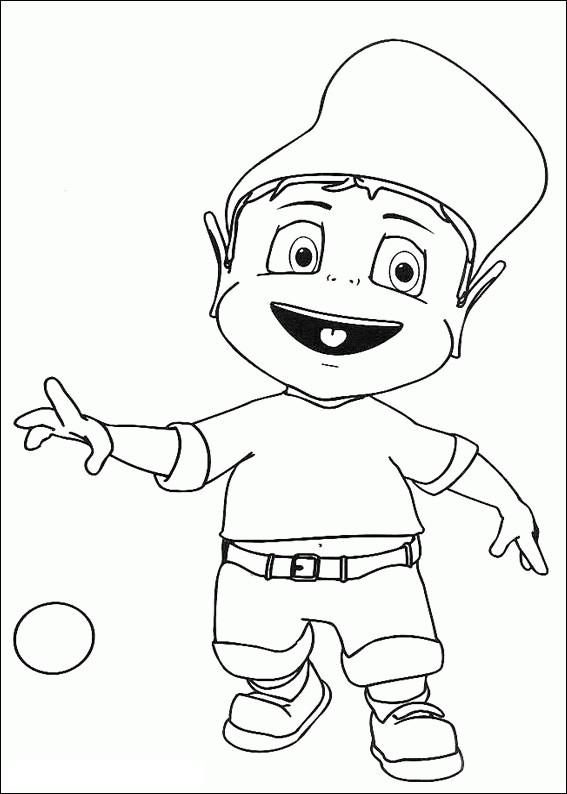 Coloriage et dessins gratuits Adibou joue au ballon à imprimer