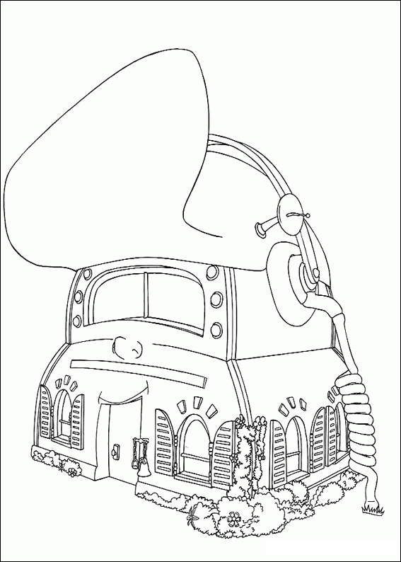 Coloriage et dessins gratuits La maison d'Adibou à imprimer