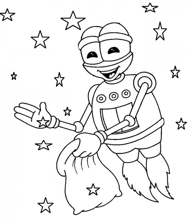 Coloriage et dessins gratuits Le robot d'Adibou à imprimer