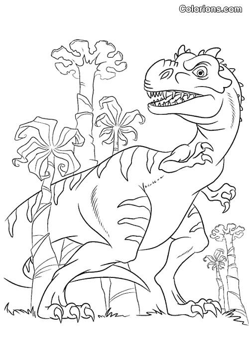 Coloriage Age De Glace Le Dinosaure Dessin Gratuit à Imprimer