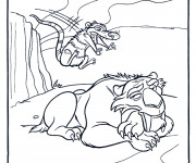 Coloriage et dessins gratuit Crash essaye d'effrayer Diego à imprimer