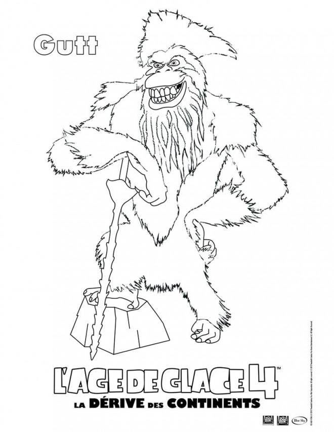 Coloriage et dessins gratuits Gutt: Age de Glace à imprimer