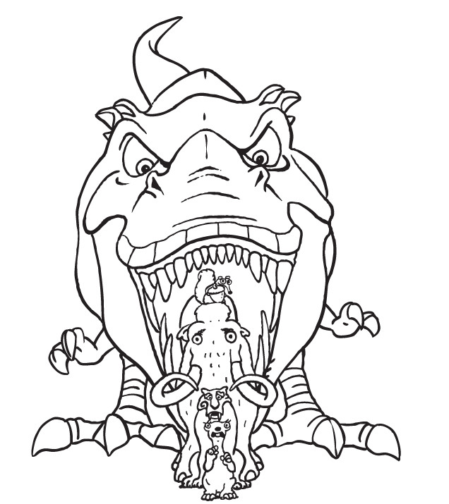 Coloriage le dinosaure age de glace dessin gratuit imprimer - Dinosaure film gratuit ...