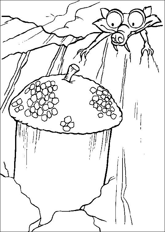Coloriage et dessins gratuits Le trésor de Scrat à imprimer