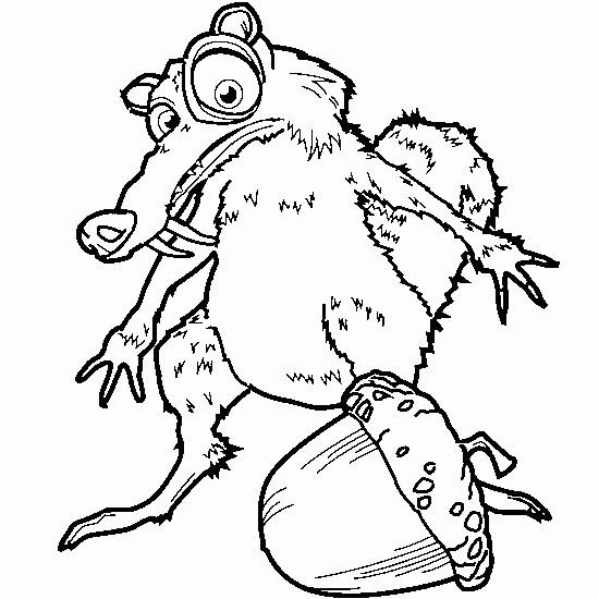 Coloriage scrat age de glace dessin gratuit imprimer - Dessin anime de crocodile ...