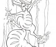 Coloriage Scrat avec son trésor