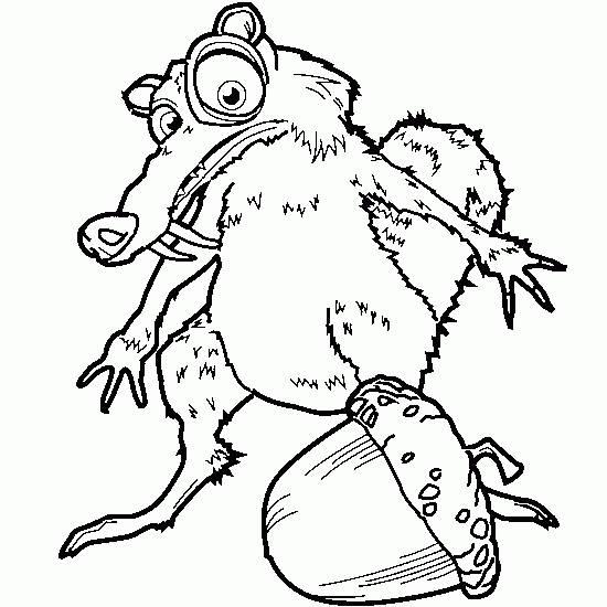 Coloriage et dessins gratuits Scrat et sa noisette: Age de Glace à imprimer