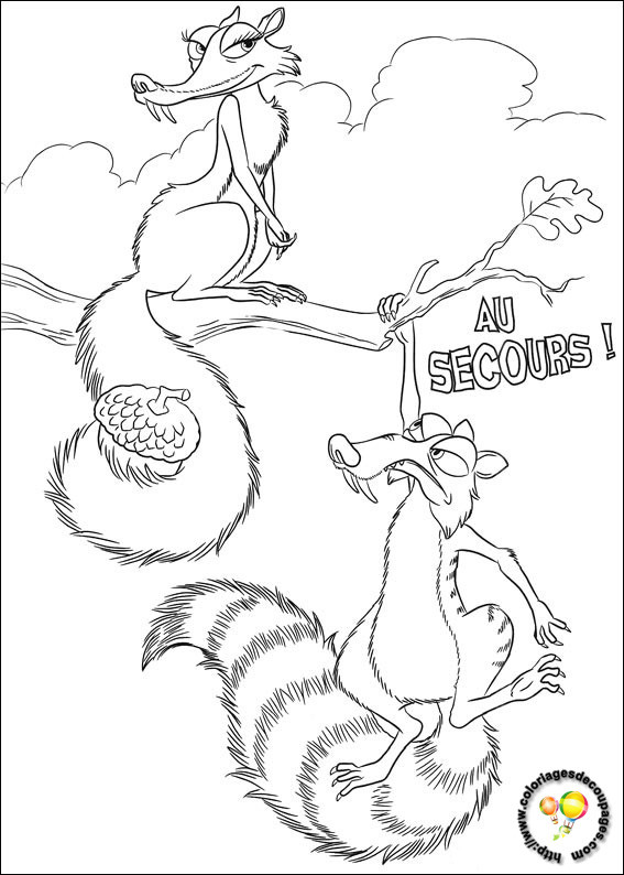 Coloriage et dessins gratuits Scrat et Scratina à imprimer
