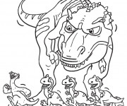 Coloriage Sid et les dinosaurs
