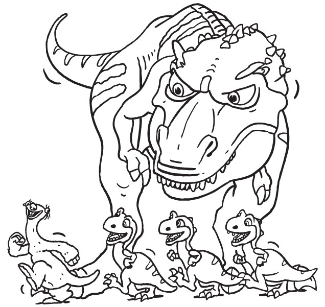 Coloriage Sid Et Les Dinosaurs Dessin Gratuit à Imprimer