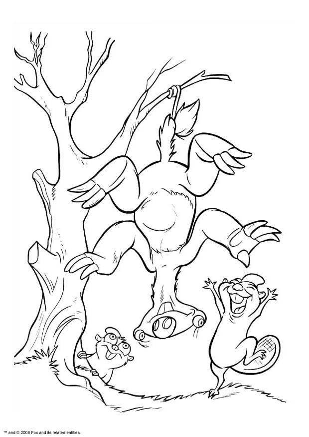 Coloriage et dessins gratuits Sid suspendu à un arbre à imprimer