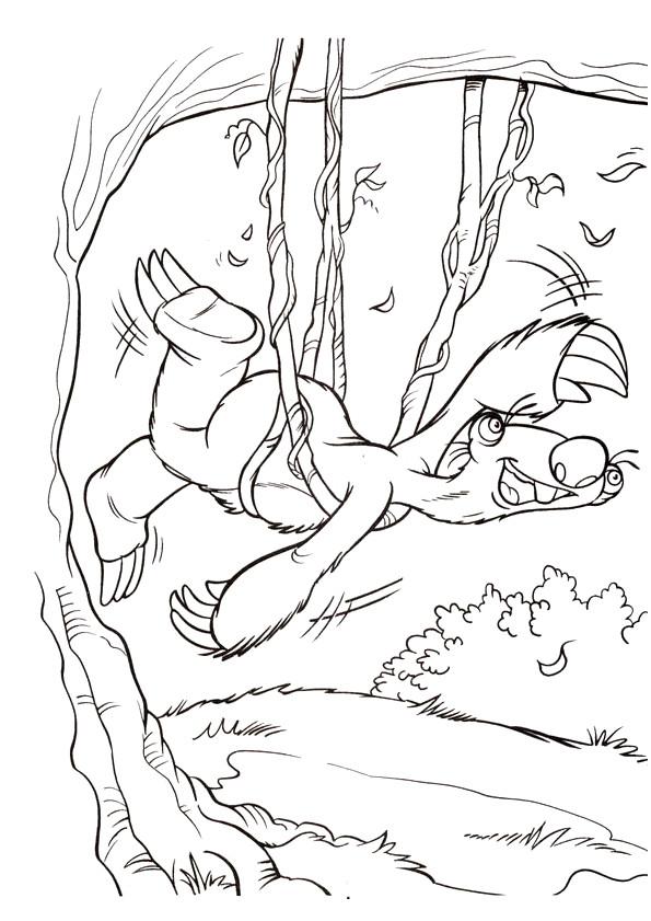 Coloriage et dessins gratuits Sid suspendu  de l'arbre à imprimer