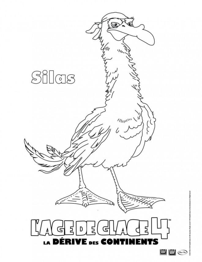 Coloriage et dessins gratuits Silas: Age de Glace à imprimer