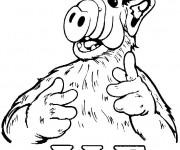 Coloriage et dessins gratuit Alf à imprimer